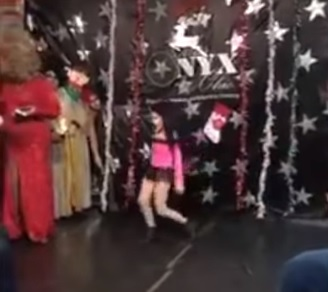 Child drag star Jacob Measley performs as Miss Mae Hem