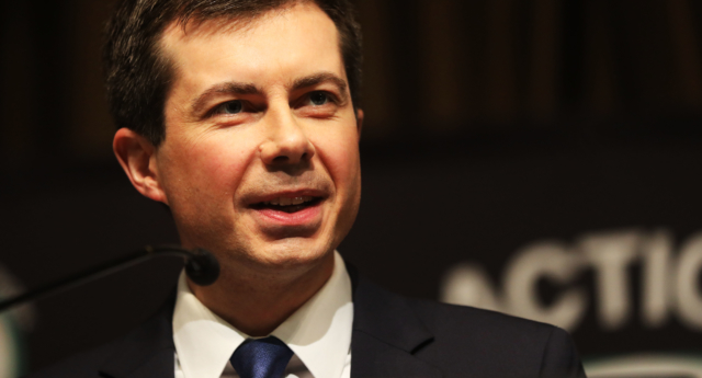 Democratic presidential hopeful South Bend, Indiana mayor Pete Buttigieg speaks at the National Action Network's annual convention on April 4, 2019 in New York City. (Spencer Platt/Getty)