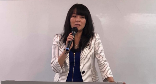 """Mio Sugita stands by her homophobic comments that same-sex couples are """"unproductive."""" (Facebook)"""