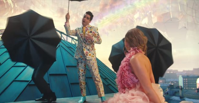 "Brendon Urie in the music video for track ""ME!"""