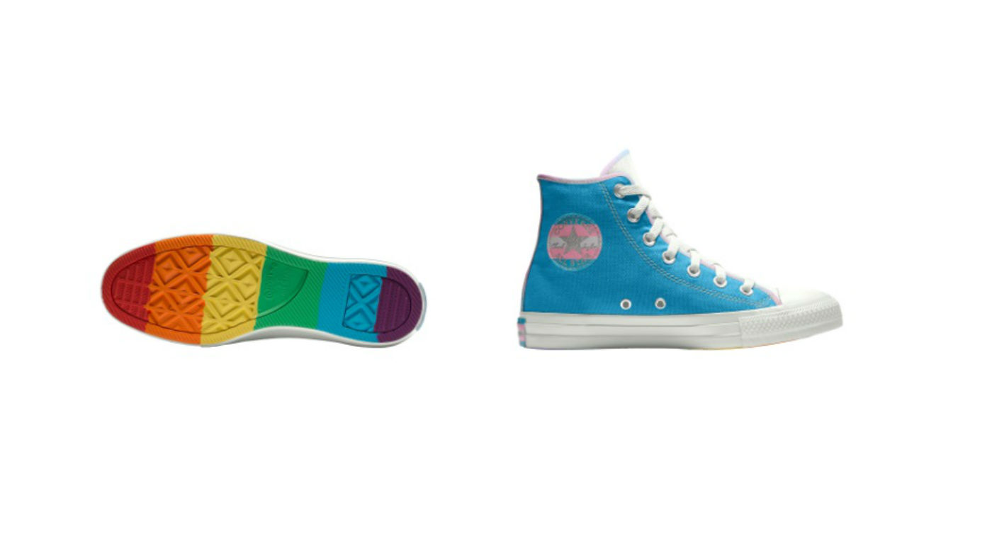 a71e6f59953ea3 Converse releases new Pride collection that features both rainbow and trans  flag designs - PinkNews · PinkNews