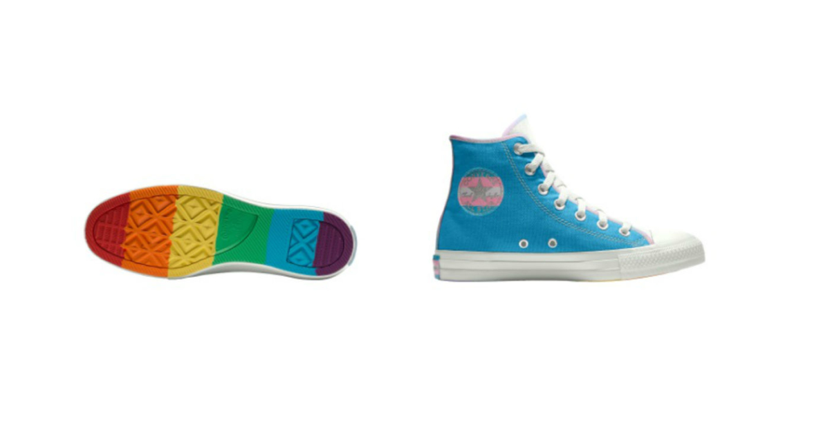 5b3750104953 Converse releases new Pride collection that features both rainbow and trans  flag designs - PinkNews · PinkNews