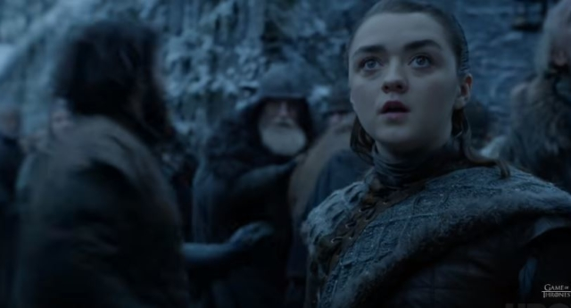 Arya Stark played by Maisie Williams in Game of Thrones (YouTube)