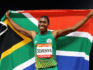 Caster Semenya  wins gold in the women's 800 metres final.