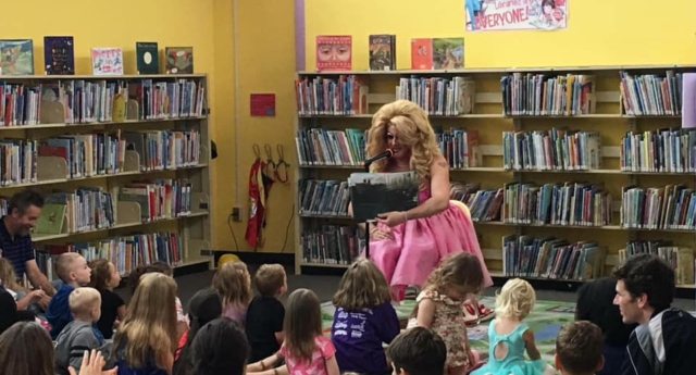 A Drag Queen Story Time event in the United States (Facebook)