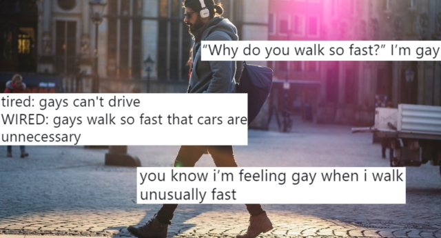 The way gay people walk has been turned into a trope. (Pexels)