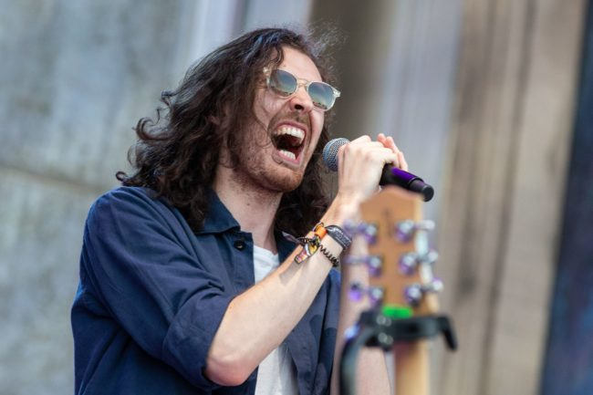 Singer-songwriter Hozier performs during weekend one of ACL Music Festival at Zilker Park in Austin on October 5, 2018.