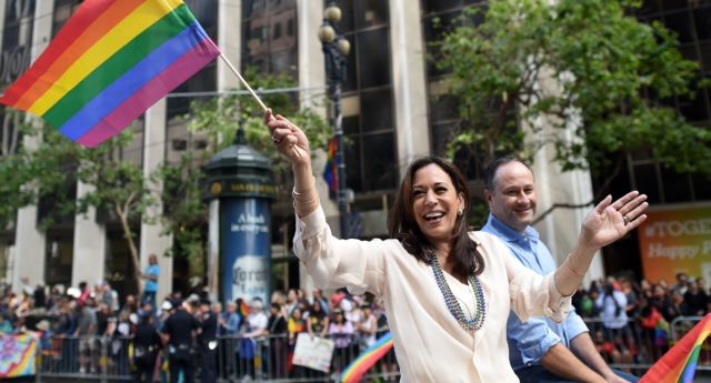 Kamala Harris outlines LGBT rights plans, gets confused about trans women