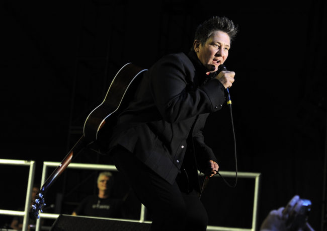 k.d. lang performs onstage at Stagecoach: California's Country Music Festival. (Frazer Harrison/Getty Images)