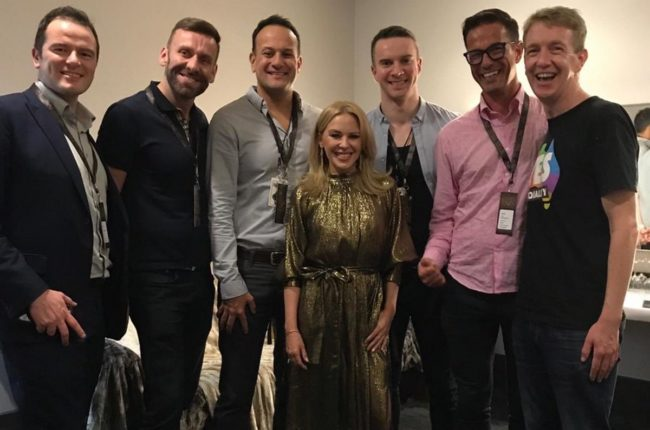 Leo Varadkar meets Kylie Minogue along with five of his friends.