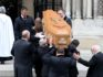 Pallbearers carry the coffin of journalist Lyra McKee. (PAUL FAITH/AFP/Getty Images)
