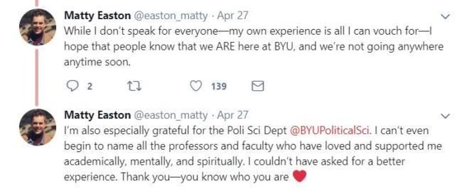 Matty Easton shared his thanks for the positive response to the video. (Twitter/@easton_matty)