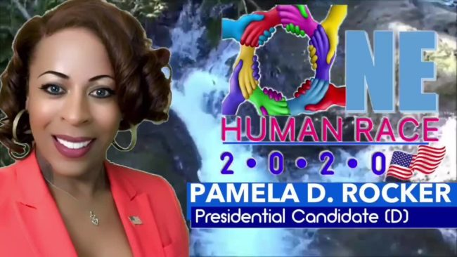 Pam Rocker says her 'One Human Race 2020' campaign will entitle American's to a free car (Facebook/Pam4America2020)