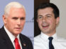 Pete Buttigieg has slammed Mike Pence for 'bad policies' (Alexandra Beier/Getty; Ethan Miller/Getty)