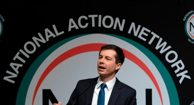 Presidential hopeful Pete Buttigieg (DON EMMERT/AFP/Getty)
