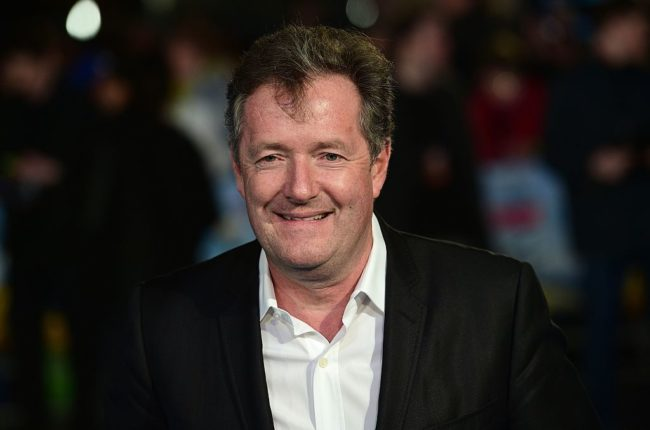 Piers Morgan who reportedly clashed with Will Young at Chelsea Flower Show