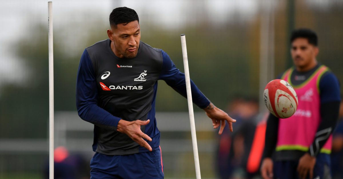 Israel Folau is one of Rugby Australia's most prominent players. (Dan Mullan/Getty)