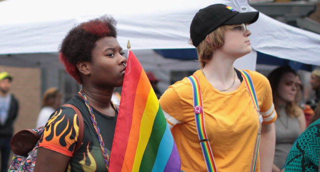 Queer women at the Columbus Pride Festival. (Scott Olson/Getty)