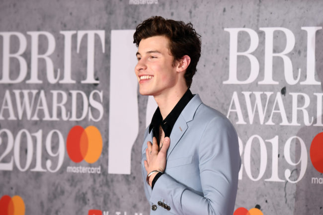Shawn Mendes attends The BRIT Awards 2019 held at The O2 Arena on February 20, 2019 in London, England.