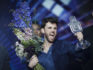 Duncan Laurence, representing The Netherlands, wins the Grand Final of the 64th annual Eurovision Song Contest. (Michael Campanella/Getty Images)