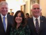 Franklin Graham with Second Lady Karen Pence and Vice President Mike Pence