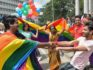 Indian members and supporters of the LGBT community celebrate the decriminalisation gay sex on September 6, 2018. (MANJUNATH KIRAN/AFP/Getty Images)