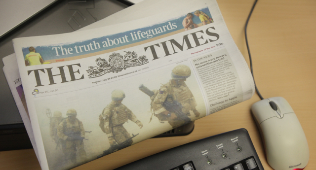 A former editor who has worked at the Times for 14 years before being made redundant is suing over 'transphobic' environment. (Peter Macdiarmid/Getty)