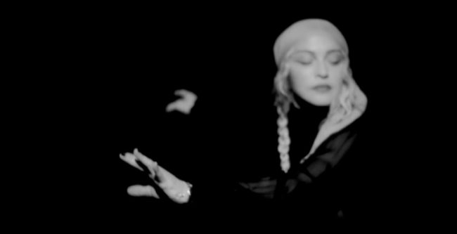 "Madonna dances to the track ""I Rise"""