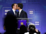 Chasten Glezman Buttigieg kisses his husband, South Bend, Indiana Mayor Pete Buttigieg, after he delivered a keynote address at the Human Rights Campaign's (HRC) 14th annual Las Vegas Gala at Caesars Palace on May 11, 2019 in Las Vegas, Nevada. (Ethan Miller/Getty)