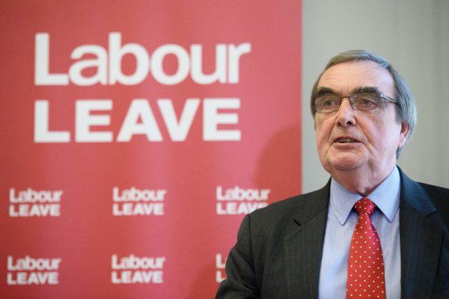 British opposition Labour party MP for Birmingham Hall Green, Roger Godsiff, speaks at the launch of the Labour Leave campaign in central London on January 20, 2016.