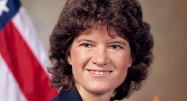 Sally Ride, the lesbian astronaut included in LGBT history lessons. (Creative Commons)