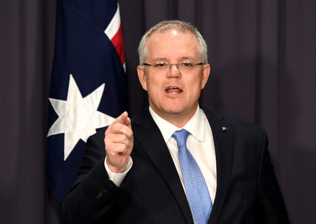 Australian election: Prime Minister Scott Morrison at a press conference on national security ahead of Question Time at Parliament House on December 06, 2018 in Canberra, Australia.