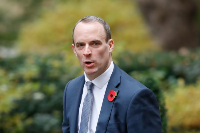 Dominic Raab. (Tolga Akmen/Getty)
