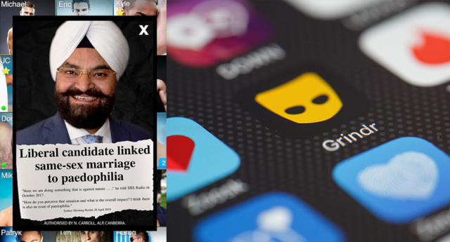 Labor targeting gay voters with Grindr adstar Observer