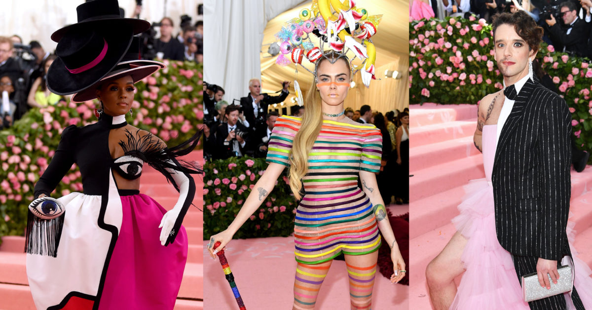 Janelle Monae, Cara Delevingne and Michael Urie graced the Met Gala carpet with some of the night's best looks. (Jamie McCarthy (L) and Dimitrios Kambouris (C, R) /Getty Images for The Met Museum/Vogue)