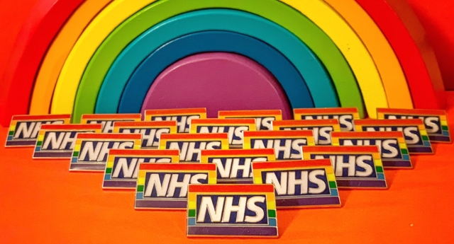 NHS Rainbow Badges hospital trolls person asking for 'straight badge'