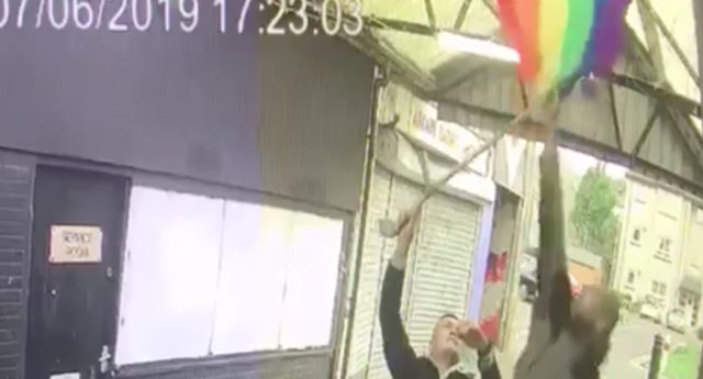 Vandals keep tearing down Pride flags at Scottish shopping centre