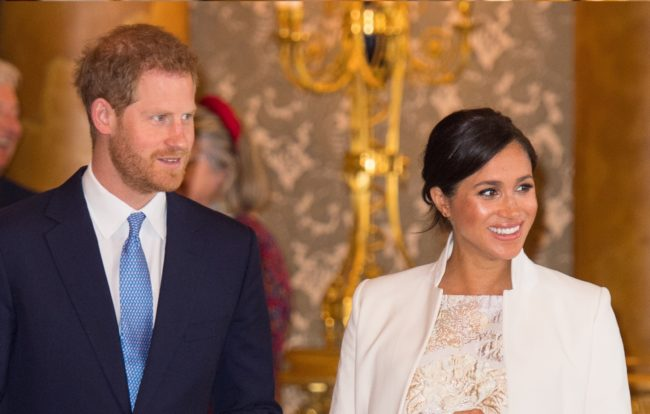 Prince Harry, Duke of Sussex, and Meghan, Duchess of Sussex, attend a reception at Buckingham Palace