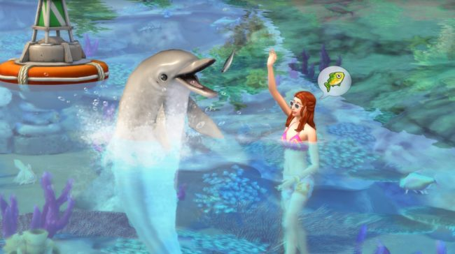 The Sims 4 will allow players to interact with dolphins and mermaids in the new Island Life expansion. (Electronic Arts)