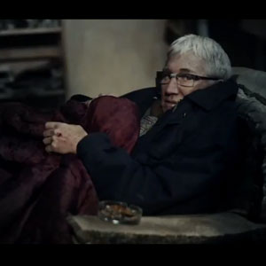 Paul O'Grady as an abused pensioner