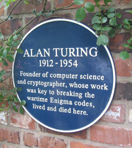 Turing killed himself by eating an apple laced with cyanide on 8th June 1954.