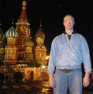 Andy Thayer in Red Square (Photo: GLN)