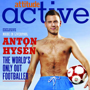 Anton Hysen on Attitude's back cover