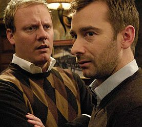Charlie Condou (right) is to become a father again