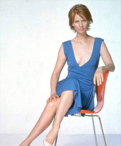 "Cynthia Nixon called her partner ""a short man with boobs""."