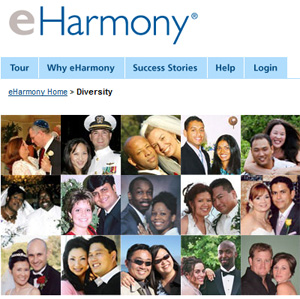 eHarmony, a popular site, has been heavily criticised over its heterosexuals-only policy.