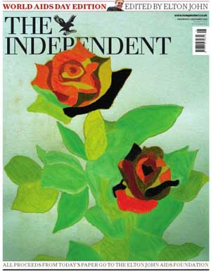 Elton John guest-edited the Independent