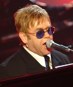 Sir Elton sang several of his classic songs at the concert, such as Rocket Man, Daniel and Your Song.