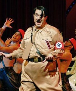 Itzik Cohen, best known for his roles as drag queens plays a gay Adolf Hitler in the Israeli production of The Producers