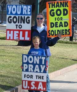 It will mainly affect the Westboro Baptist church who run a website called GodHatesFags have protested at over 100 funerals of soldiers killed in the line of duty in Iraq